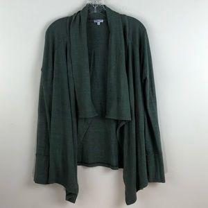 Splendid Green Open Front Cardigan Size Medium
